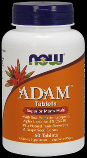 ADAM Superior Mens Multiple Vitamin (60 tabs) NOW Foods