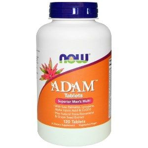 ADAM Superior Mens Multiple Vitamin (120 tabs) NOW Foods