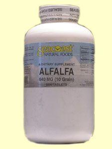 Alfalfa 10gr (1000 tabs) Seacoast Vitamins