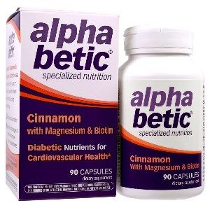 alpha betic Cinnamon, Magnesium & Biotin (90 caps) Enzymatic Therapy