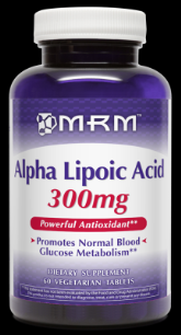 Alpha Lipoic Acid  (300mg  60 Vtabs) Metabolic Response Modifiers