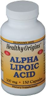 Alpha Lipoic Acid 300mg (150 capsules) Healthy Origins