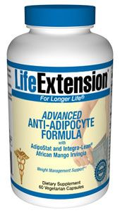 Advanced Anti-Adipocyte Formula with AdipoStat and African Mango Irvingia (60 caps)* Life Extension