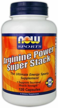 Arginine Power Super Stack (2.2 lbs.) NOW Foods