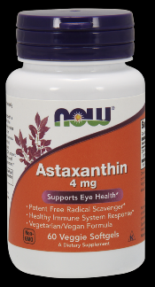 Astaxanthin (4mg, 60 softgels) NOW Foods