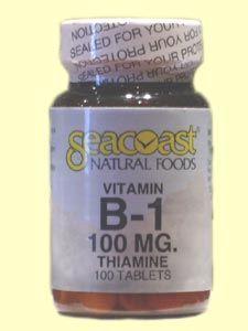 B1 (Thiamine) 100mg (100 Tabs) Seacoast Vitamins