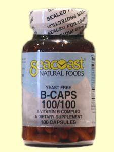 Vitamin B Complex 100mg Yeast-Free (100 Caps) Seacoast Vitamins
