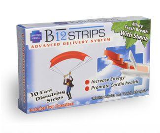 B12 Strips (1000 mcg, 30 fast dissolve strips) Essential Source
