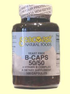 Vitamin B Complex 50mg Yeast-Free (100 Caps) Seacoast Vitamins