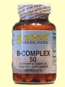 Vitamin B Complex 50mg (100 Tabs) Seacoast Vitamins