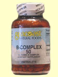 Vitamin B Complex 50mg (250 Tabs) Seacoast Vitamins