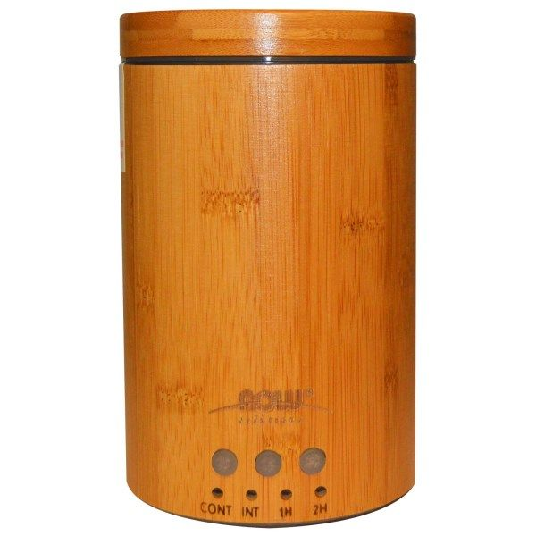Aromatherapy Bamboo Ultrasonic Oil Diffuser NOW Foods