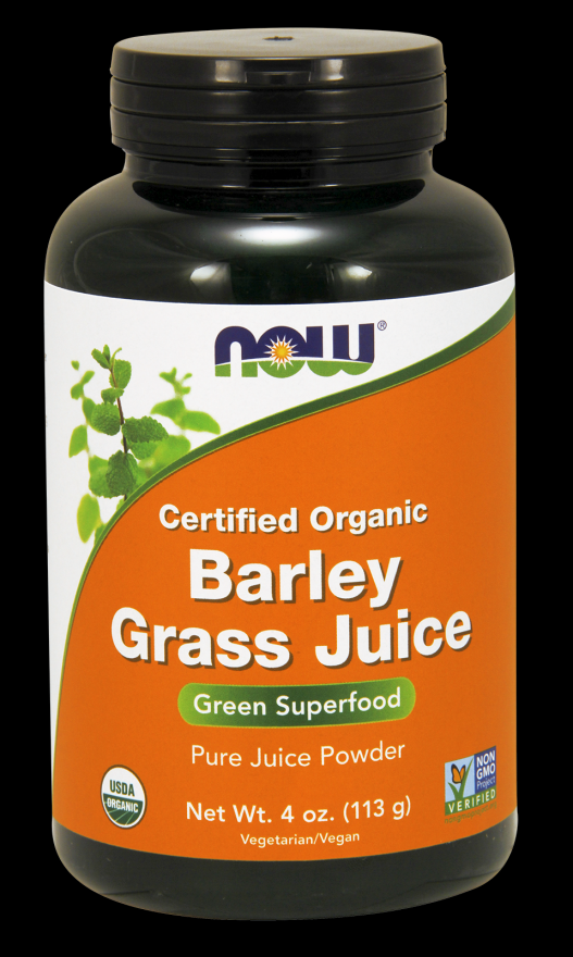 Barley Grass Powder Oraganic  (4 oz) NOW Foods