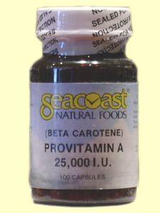 Beta Carotene 25,000 IU (100 Caps) Seacoast Vitamins