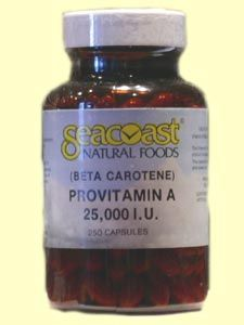 Beta Carotene 25,000 IU (250 Caps) Seacoast Vitamins