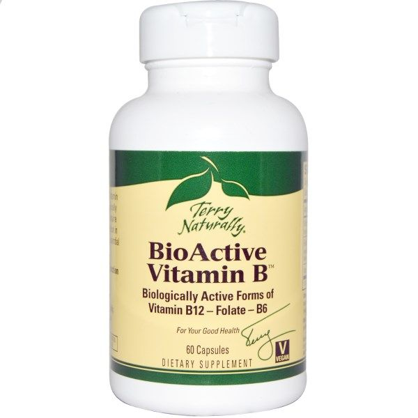 Bio-Active Vitamin B (60 caps) Terry Naturally