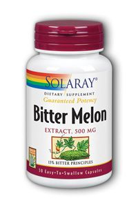Bitter Melon Extract (500 mg 30 capsules) Solaray Vitamins