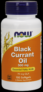 Black Currant Oil (100 softgels 500 mg) NOW Foods