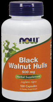 Black Walnut Hulls 500 mg (100 Caps) NOW Foods