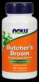 Butchers Broom 500 mg (100 Caps) NOW Foods