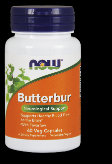 Butterbur with Feverfew (60 vcaps) NOW Foods