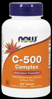 Vitamin C-500 Complex (Vegetarian 100 Tabs) NOW Foods