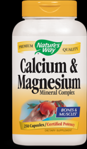 Calcium with Magnesium  ( 250 capsules ) Nature's Way