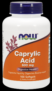 Caprylic Acid 600 mg (100 Softgels) NOW Foods