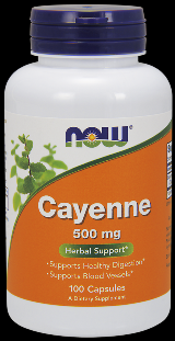 Cayenne Caps 500 mg (100 Caps) NOW Foods
