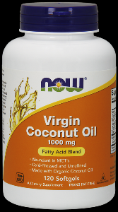 Coconut Oil (120 softgels 1000 mg) NOW Foods