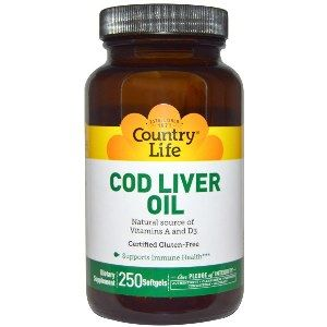 Cod Liver Oil Softgels (250 Softgel) Country Life