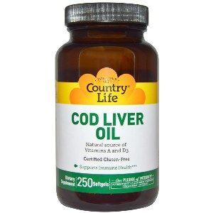 Cod Liver Oil Softgels (250 Softgel) Country Life