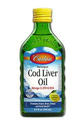 Cod Liver Oil | Lemon Flavor (250 mL) Carlson Labs