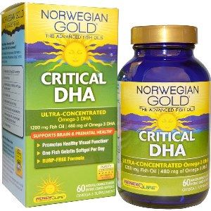 Norwegian Gold Critical DHA (60 fish gels)* Renew Life