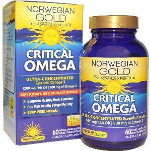 Norwegian Gold Critical Omega (60 fish gels)* Renew Life