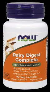 Dairy Digest Complete (90 Vcaps) NOW Foods