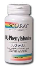DL-Phenylalanine (500 mg 60 capsules) Solaray Vitamins