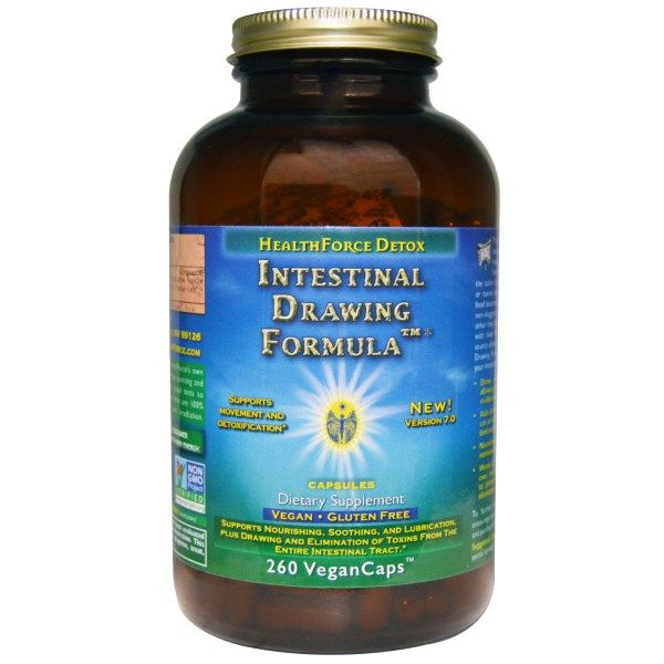 Intestinal Drawing Formula (260  vegan capsules)* HealthForce Nutritionals