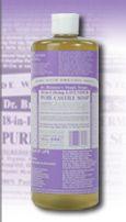 Organic Castile Liquid Soap (Lavender 32 oz.)* Dr. Bronner's