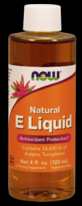 Vitamin E Liquid 54,600 IU  (4 oz) NOW Foods