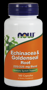 Echinacea & Goldenseal Root 225 and 225 mg Blend, 100 Capsules NOW Foods