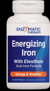 Energizing Iron w/Eleuthero (90 softgels) Enzymatic Therapy