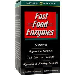 Fast Food Enzymes (90 Veggie Caps) Natural Balance