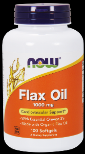 Organic Flax Oil (250 softgels 1000 mg) NOW Foods