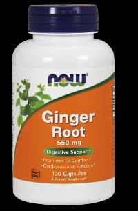 Ginger Root 550 mg (100 Caps) NOW Foods