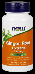 Ginger Root Extract 250 mg (90 vcaps) NOW Foods