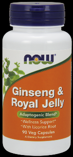 Ginseng & Royal Jelly (90 Caps) NOW Foods