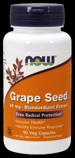 Grape Seed Antioxidant 60 mg  (90 vcaps) NOW Foods