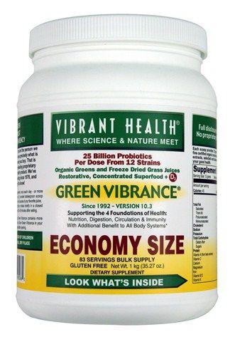 Green Vibrance Green Foods Bulk Economy Size (1 kilo  35.27 oz)* Vibrant Health
