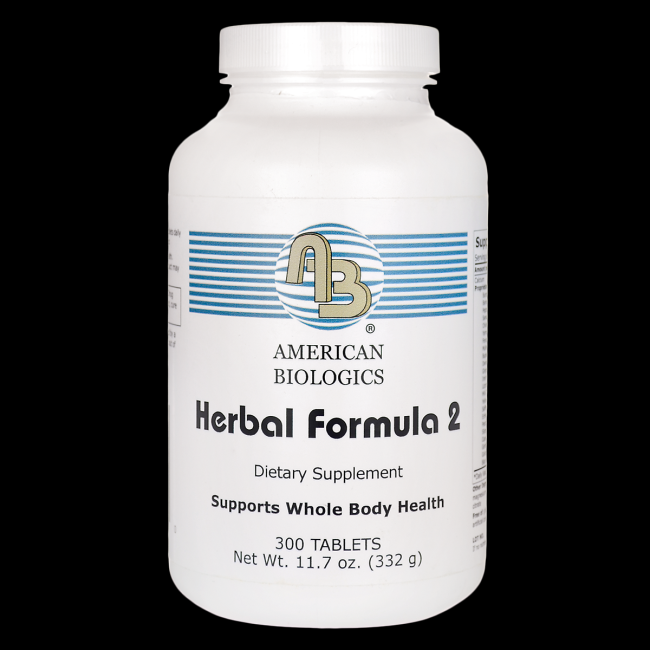 Herbal Formula 2 (Whole Body Cleanse) (300 tablets) American Biologics